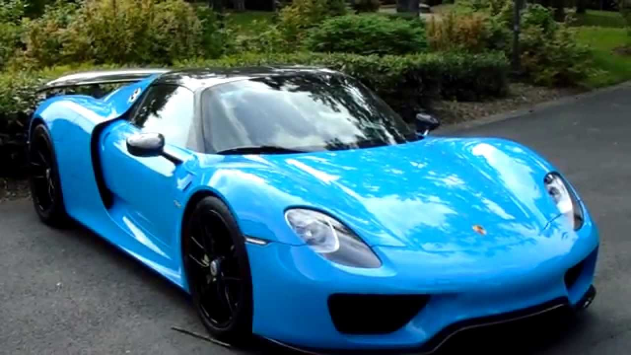 blue riviera porsche 918 spyder in reims 2015 youtube. Black Bedroom Furniture Sets. Home Design Ideas