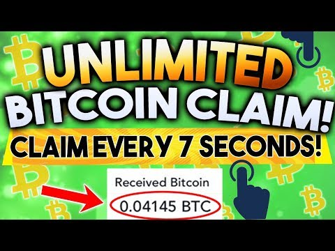 FREE!! Unlimited Bitcoins! Claim Every 7 Seconds!