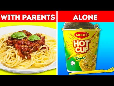 14 USEFUL HACKS THAT WILL MAKE YOU MORE INDEPENDENT II With parents vs  alone