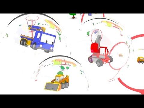 Das Schwimmbad und die Schaumkanone - Lerne mit den kleinen Trucks | Lehrreiche Cartoons für Kinder