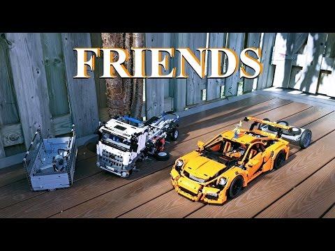 Lego Technic Porsche 911 GT3 RS  & Mercedes-Benz Arocs 42056 Friends MOD#3 4k