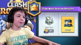 #1 CLAN WAR CHEST - SILVER LEAGUE - Clash Royale