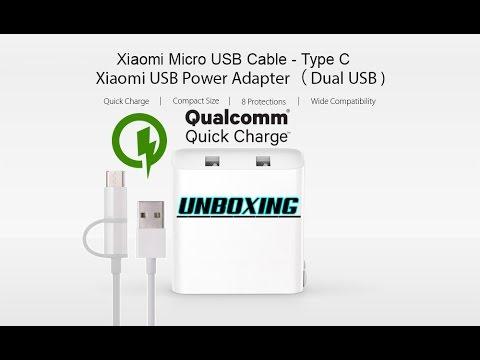 Cargador Dual Xiaomi Qualcomm 3.0 Quick Charge Unboxing