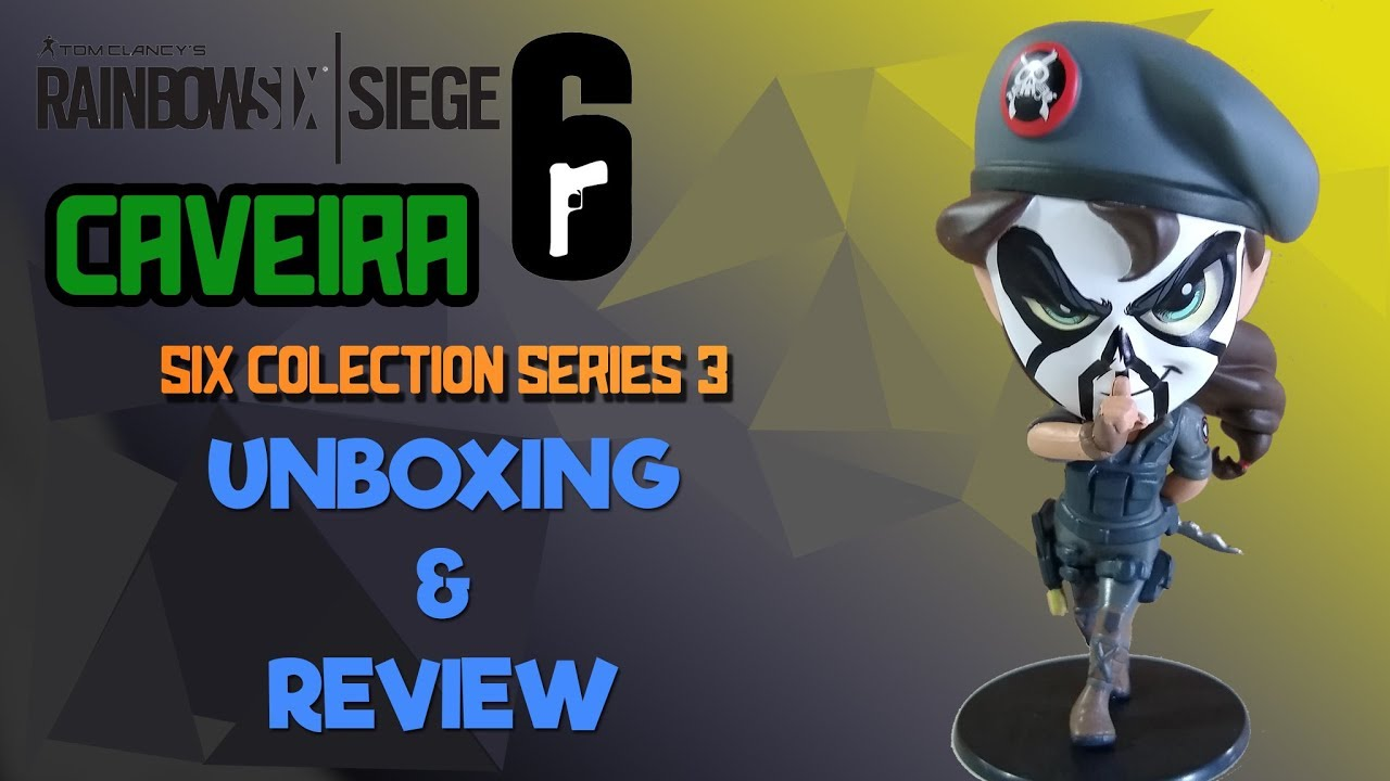 Rainbow Six Siege - Caveira Chibi Figure Six Collection Series 3 Unboxing &  Review!