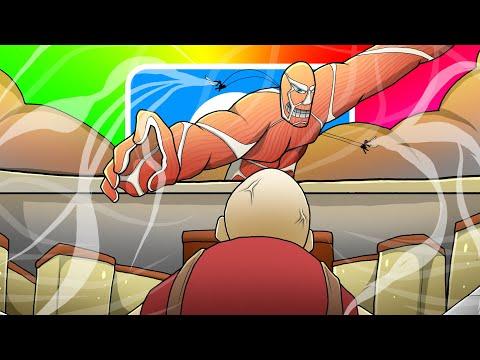 แกล้งเพื่อน!! แปลงร่างเป็น ไททัน 60เมตร จากหนัง Attack on titan | Garry's Mod Multiplayer Gameplay