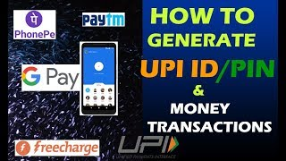How to Generate / Create UPI ID || BHIM UPI || Complete Process || Step By Step In Hindi #73