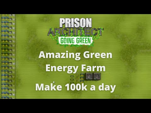 The Perfect green Energy Farm Layout - Prison Architect Tutorial |