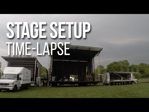 Stageline Time-Lapse @ Mississauga Waterfront Festival 2015 | Metalworks Production Group