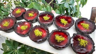 Muhallebili böğürtlenli çikolatalı çanak çikolatalı çanak tarifi اطباق شكولاتة بالمحلبي والصوص