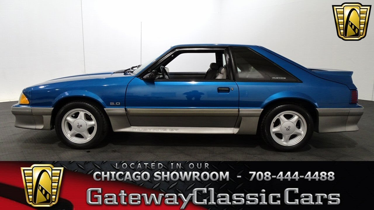 91 Mustang Gt >> 1991 Ford Mustang Gt Gateway Classic Cars Chicago 1197