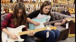 Baixar Mary Spender & Angela Petrilli on Straturday! - 1965 Fender Strat Sonic Blue & Eric Johnson Strat