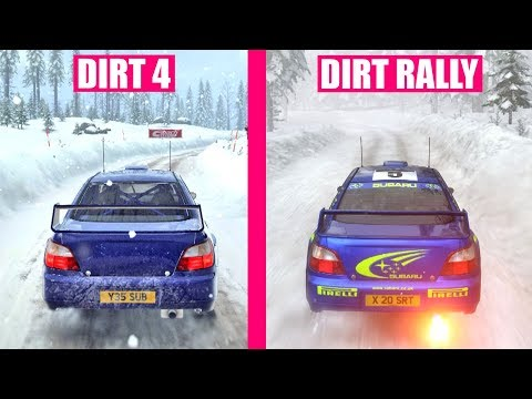 dirt 4 vs dirt rally graphics comparison dirtgame. Black Bedroom Furniture Sets. Home Design Ideas