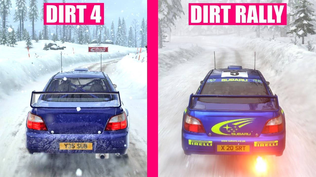 dirt 4 vs dirt rally ultimate graphics comparison youtube. Black Bedroom Furniture Sets. Home Design Ideas
