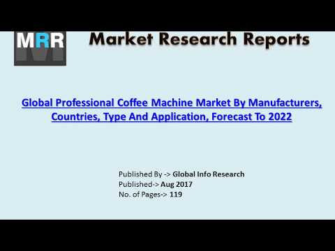 Global Professional Coffee Machine Market: Revenue, Demand, Share and Size 2017- 2022