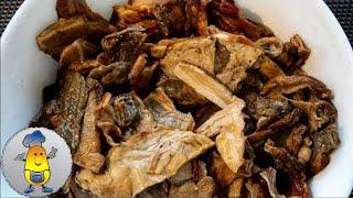 Как готовить сушеные грибы правильно