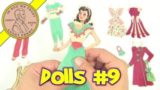 Vintage Paper Dolls Collection - Paper Doll Video 9 - Doll # 2 Woman