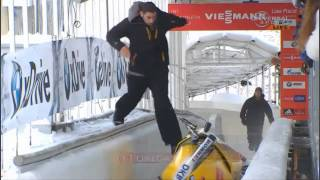 German Friedrich crashes in Lake Placid 4-Man Bobsled - Universal Sports