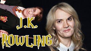 JK Rowling, la mère de Harry Potter. Teatime!