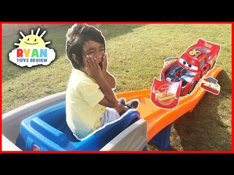 Thumbnail: CARS 3 Crazy Crash & Smash Step2 Roller Coaster Extreme Thrill Ride ON Cars Toys for Kids