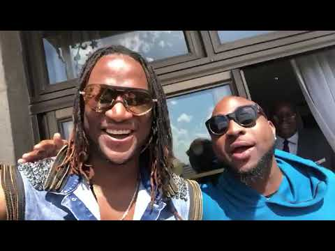 Davido in Zimbabwe with Jah Prayzah