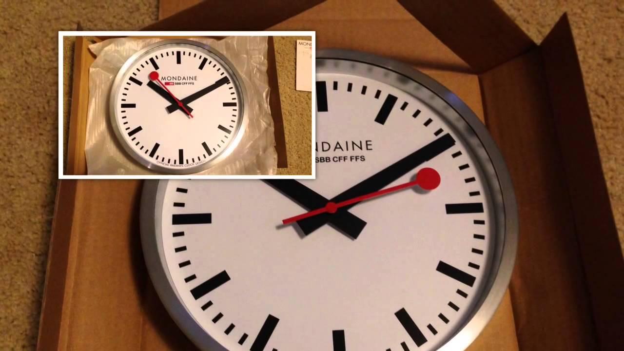 Mondaine a990ock16sbb wall clock white dial youtube clock16sbb wall clock white dial youtube amipublicfo Images