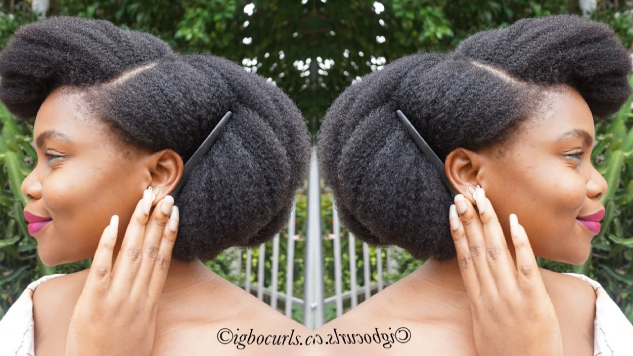 Natural Hairstyle On 4c Black Natural Hair Perfect Bob Updo On