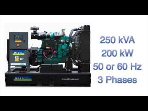 AKSA 250 KVA 200 KW Diesel Generator With Cummins Engine 50hz Or 60hz