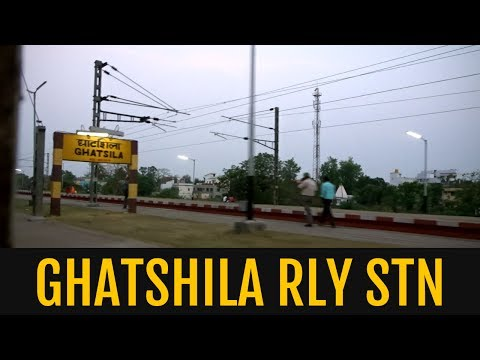 Crossing Ghatshila Railway station in the evening