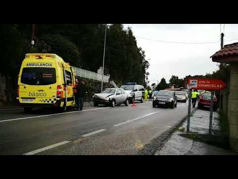 Herida una conductora en un accidente múltiple en Chancelas