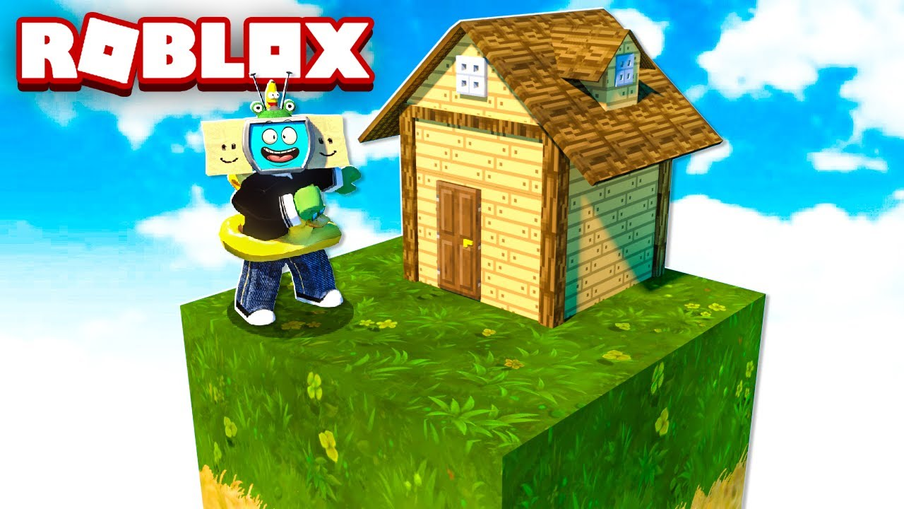 I Built A House In Roblox Skyblock Survival Youtube