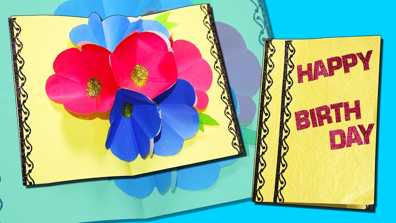 Happy Birthday Pop Up Card Greeting Card Diy Craft For Kids