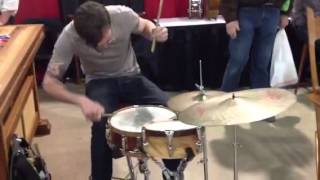 Dan Briechle Drumming At The Woodworking Show
