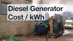 Cost to generate electricity with a Diesel Generator? ✔️