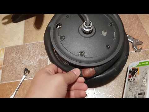 Разбор колеса и ремонт камеры на электро самокате XIaomi MIJIA M365