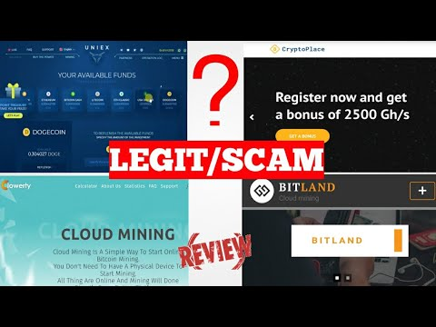 Uniex,Bitland,Crypto Place and Clowerty Mining Website Update Real/Scam 100% Proof