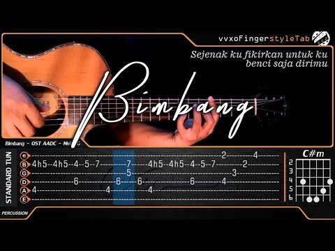 BIMBANG - Ost. AADC - Melly Goeslaw - Cover (Fingerstyle Cover) TAB Tutorial & CHORD