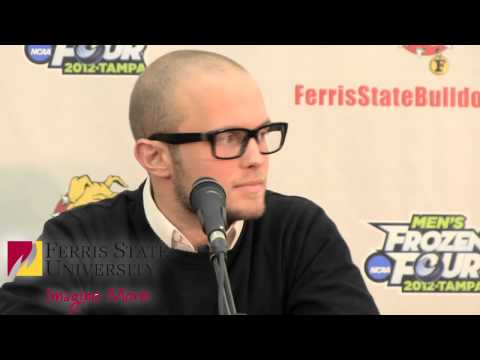 Ferris State University Hockey Press Conference: Chad Billins, Jordie Johnston and Taylor Nelson