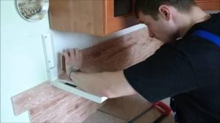 Укладка каменных обоев (кухонный фартук)(, 2015-07-20T08:53:00.000Z)