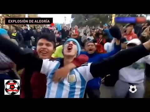 Asi se vivio en argentina el gol de marcos rojo a Nigeria HD Rusia 2018