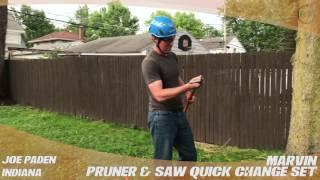 marvin pruner saw quick change set treestuffcom customer joe padens review in the field