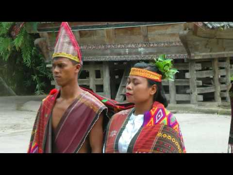INDONESIA traditional Batak dance (2), Lake Toba (hd-video)