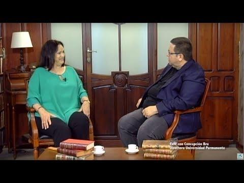 Cafe con Concepcion Bru Directora de la Universidad Permanente UA