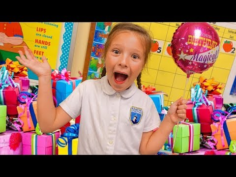 🎉 SURPRISE SCHOOL BIRTHDAY PARTY! ✏️