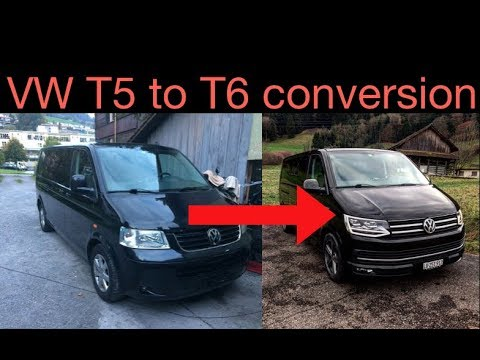 vw t5 bus umbau zum t6 facelift busumbau bulli youtube. Black Bedroom Furniture Sets. Home Design Ideas