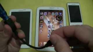 Samsung Note 8, Tab 3, S4 Mini e Player 4.2 - Conectando USB e Pen Drive - PT-BR - Brasil