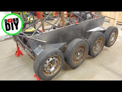 Tracked Amphibious Vehicle Build Ep. 15 - Plasma Cutting & Sheet Metal Body Fabrication