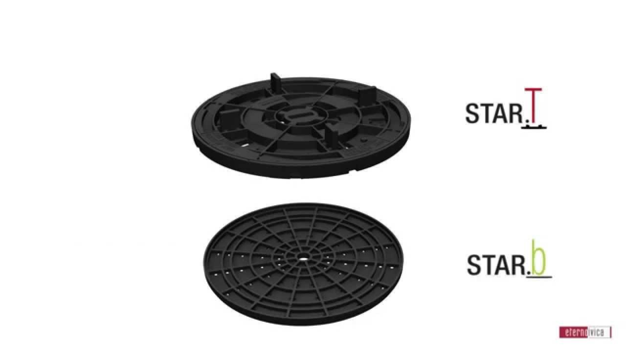 neuheit platten stelzlager star t einstellbar von 1cm bis 3cm youtube. Black Bedroom Furniture Sets. Home Design Ideas
