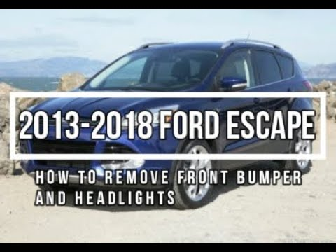 How to Remove 2013 Ford Escape Front Bumper and headlights 2013-2018  Ford Escape Front Bumper Wiring Harness on 2013 ford f550 grille cover, ford contour wiring harness, 2007 ford f-150 wiring harness, 2003 ford explorer wiring harness, 2010 ford f-150 wiring harness, 2013 ford fusion grill, 2007 ford edge wiring harness, ford edge trailer wiring harness, 2003 ford f-150 wiring harness, 2013 dodge ram wiring harness,