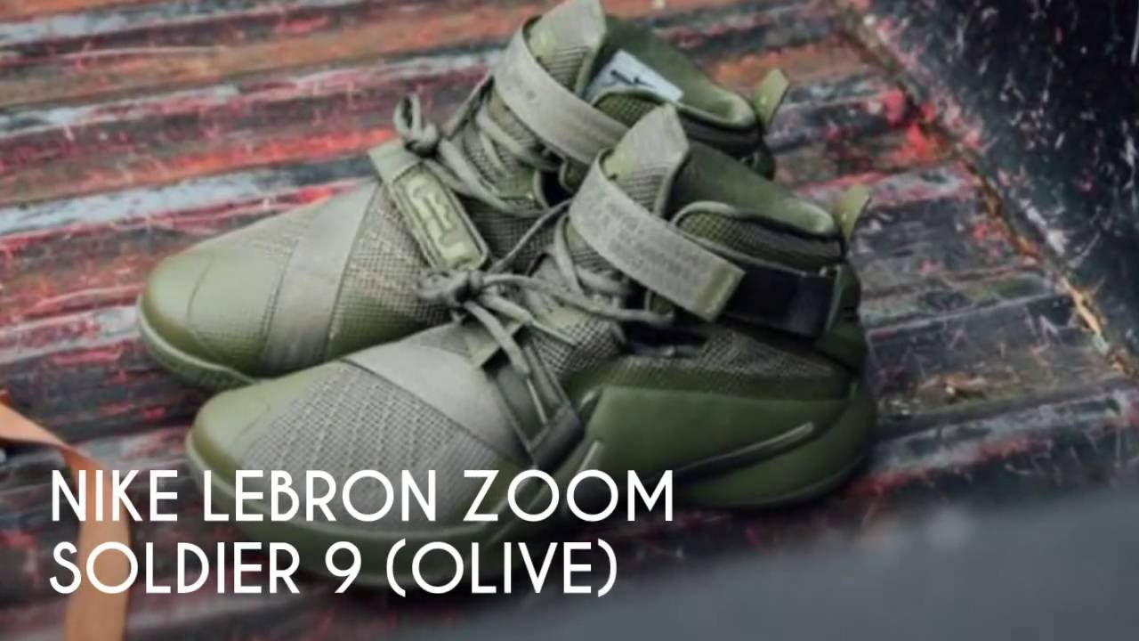 f0f325b036f NIKE LEBRON ZOOM SOLDIER 9 (OLIVE)  S SNEAKERS - YouTube