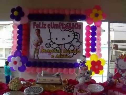 Decoraci n infantil de hello kitty youtube - Decoracion hello kitty ...